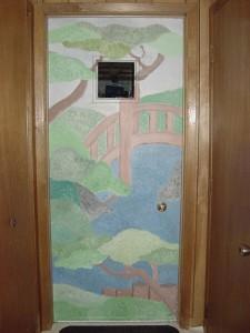 painted door - photo: Marlies Cohen